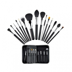 MSQ 15 Piece Natural Hair Professional Cosmetic Brush Kit