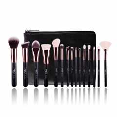 15 Piece Rose Gold Comsetics Brush Set