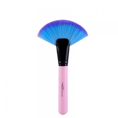 MSQ Fan Makeup Brush Pink Make Up Brush Synthetic Hair