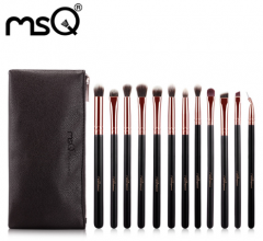 MSQ 12pcs Eyeshadow Makeup Brushes Set Pro Rose Gold Eye Shadow Blending Make Up Brushes Soft Animal Synthetic Hair For Beauty