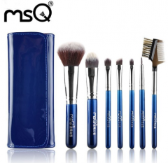 MSQ Professional 7pcs Travel Makeup Brushes Set Soft Synthetic Hair With High Quality PU Leather Case For Fashion Beauty
