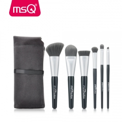 MSQ 6pcs Gray Synthetic Hair Make Up Brush Set Private Label Cosmetics Makeup Brushes