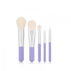 MSQ 5pcs travel size cute high quality cosmetics brushes set mini makeup brushes custom logo