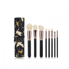 MSQ 8pcs rose gold cosmetic brushes set hot sale private label makeup brush