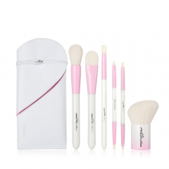 MSQ 6pcs Pink girl Synthetic Hair Makeup brush set