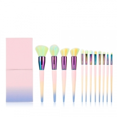 MSQ 12pcs Colorful New Style Cosmetics Makeup Brushes Custom Logo Makeup Set